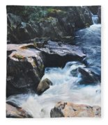 Betws-y-coed Waterfall Fleece Blanket