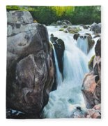 Betws-y-coed Waterfall In North Wales Fleece Blanket