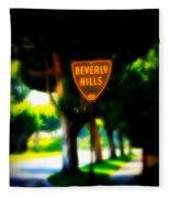 Beverly Hills Sign Fleece Blanket