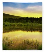 Beyond Sunset Landscape Fleece Blanket