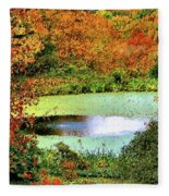 Beyond The Birch Pathway Fleece Blanket