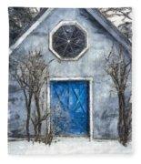 Beyond The Blue Door Pencil Fleece Blanket