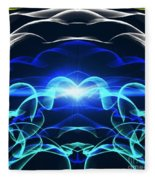 Beyond The Dark Clouds And Storms Fleece Blanket