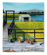 Beyond The Levee Fleece Blanket