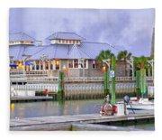 Bhi Marina Purple Hue Evening Fleece Blanket