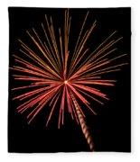 Bi-color Fireworks 2 Fleece Blanket