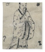 Bian Que, Ancient Chinese Physician Fleece Blanket