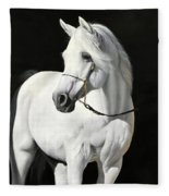 Bianco Su Nero Fleece Blanket