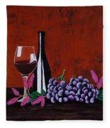 Bicchiere Di Vino Fleece Blanket