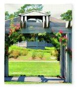 Bicentennial Rose Garden Fleece Blanket