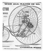 Bicycle, 1884 Fleece Blanket