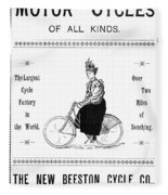 Bicycle, 1897 Fleece Blanket