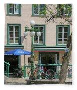 Bicycle And Lamppost 6417 Fleece Blanket