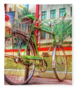 Bicycle Art Fleece Blanket