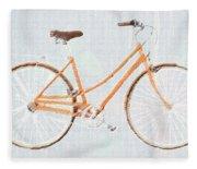 Bicycle Blues Fleece Blanket