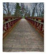 Bicycle Bridge - Niagara On The Lake Fleece Blanket