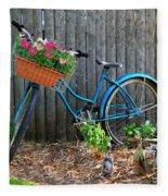 Bicycle Garden Fleece Blanket