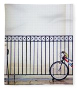 Bicycle New Orleans  Fleece Blanket