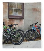 Bicycle Parking Fleece Blanket