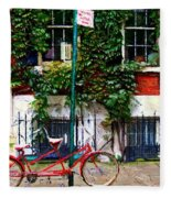 Bicycle Parking Sketch Fleece Blanket