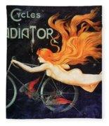 Bicycle Poster, C1905 Fleece Blanket