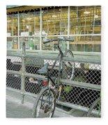 Bicycle Rack Fleece Blanket