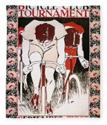 Bicycling Poster, 1896 Fleece Blanket