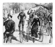 Bicyclist Meeting, 1884 Fleece Blanket