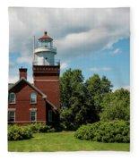 Big Bay Point Lighthouse Fleece Blanket