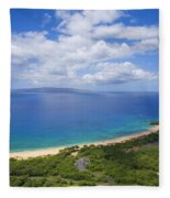Big Beach Aerial Fleece Blanket