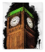 Big Ben In London Fleece Blanket