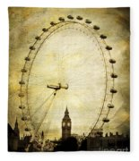 Big Ben In The London Eye Fleece Blanket