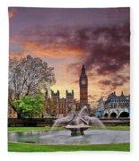 Big Ben London Fleece Blanket