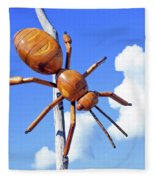 Big Bug Sculpture 1 Fleece Blanket