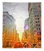 Big City, Bigger Life Fleece Blanket