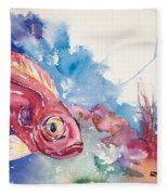 Big Eye Squirrelfish Fleece Blanket