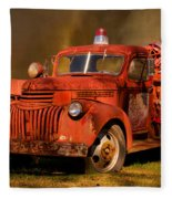 Big Fire - Old Fire Truck Fleece Blanket