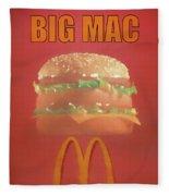 Big Mac Poster Fleece Blanket