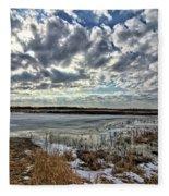 Big Marsh Spring Thaw 2 Fleece Blanket