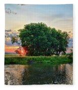 Big Marsh Sun Fleece Blanket