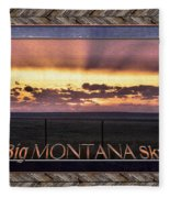 Big Montana Sky Fleece Blanket