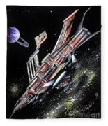 Big, Old Space Shuttle Of Dead Civilization Fleece Blanket
