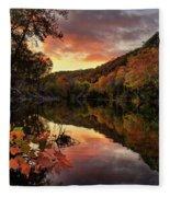 Big Piney Sunset Fleece Blanket