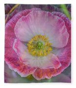 Big Poppy 4 Fleece Blanket