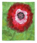 Big Red Flower Fleece Blanket