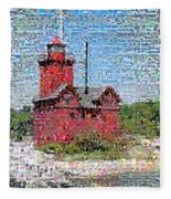 Big Red Photomosaic Fleece Blanket