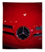 Big Red Smile - Mercedes-benz S L R Mclaren Fleece Blanket