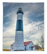 Big Sable Light On Lake Michigan Fleece Blanket