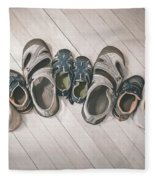 Big Shoes To Fill Fleece Blanket