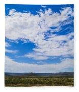 Big Sky In Pecos Valley Fleece Blanket
